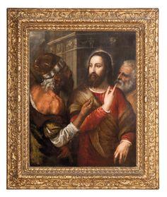 Tiziano Vecellio, dit Le Titien (Pieve di Cadore vers 1483/1485 - Venise 1576), Le Denier de Cesar.