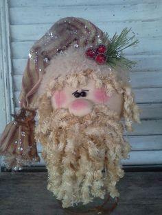 Fabric Santa, Christmas Crafts