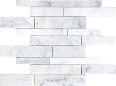 Bianco Venatino Marble Tile -(Polished) Random Strip Mosaic  $10.97 Sq.Ft