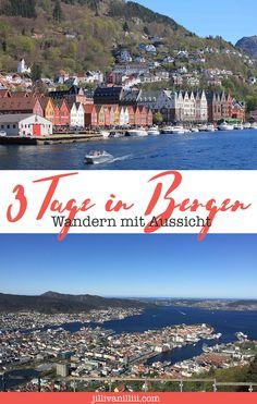 Mein Reisebericht über drei Tage Wandern und eine Fjordkreuzfahrt in Bergen. Vom Floyen bis zum Ulriken. Bergen, Roadtrip, Hiking, Europe, Movies, Movie Posters, Travel, Europe Travel Tips, Family Vacations