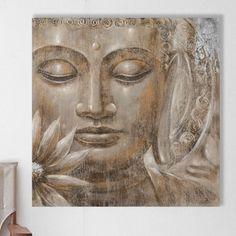 Buddha Oil Painting Print on Canvas Vintage Boulevard Buddha Kunst, Buddha Zen, Buddha Artwork, Buddha Wall Art, Buda Painting, Painting Prints, Photo Zen, Budha Art, Image Zen