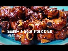 How to Make Chinese Sweet and Sour Pork Ribs (糖醋排骨) Bbq Pork Roast, Pork Loin Ribs, Pork Menu, Bbq Ribs, Beef Steak, Chinese Pork Rib Recipe, Chinese Bbq Pork, Chinese Food, Pork Rib Recipes