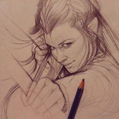 Tauriel Sketch by JuliaFox90 on DeviantArt