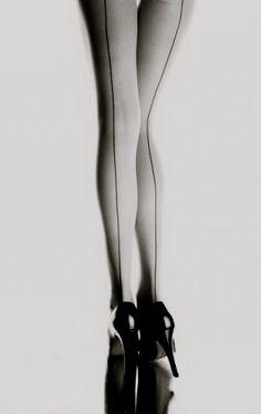 Killer heels, seamed stockings