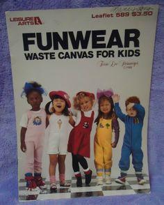 Funwear Waste Canvas For Kids Cross Stitch Pattern Book