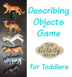 Play this Describing Objects Game with any 5 objects you find around the house. Your toddler will use critical thinking skills to solve the riddle. Outdoor Activities For Toddlers, Toddler Learning Activities, Rainy Day Activities, Animal Activities, Games For Toddlers, Language Activities, Indoor Activities, Fun Learning, Toddler Play