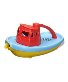 How adorable is this tug boat toy (made from recycled materials)? The pour spout makes me think of cute pouty lips!