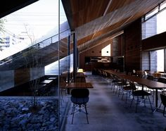 Suppose Design Office designed the Cafe la Miell in the city of Niihama, Japan.