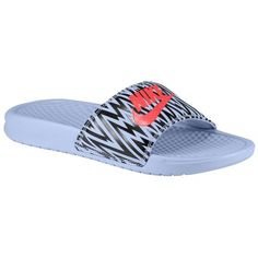 Nike Benassi JDI Slide - Women's - Casual - Shoes - Purple Fade/Black/Lt Crimson