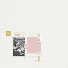 Digital scrapbook layout idea using Project Grateful Homemade collection.