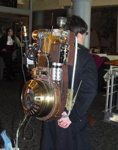 Steampunk Ghost Buster machine