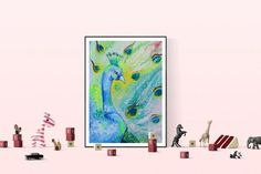 Buy Proud peacock, Acrylic painting by Silvie Tripes on Artfinder. Discover thousands of other original paintings, prints, sculptures and photography from independent artists.