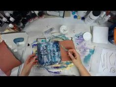 Melting Tyvek & Crackle Paste Canvas -- Patti Tolley Parrish - YouTube