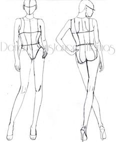 high fashion croquis templates front and back - Google Search