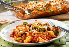 Delicious tortellini recipe with broccoli and spicy sausage. Perfect dinner meal to put together in your suite.