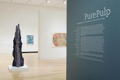 Installation view of various artists' work in the exhibition Pure Pulp: Contemporary Artists Working in Paper at Dieu Donné. Photograph by John Bentham.