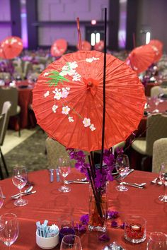 parasol as centrepiece