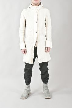 Layer-0 x Guidi reverse horse leather hooded coat
