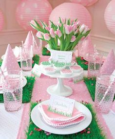 Tablescapes For Parties | Creative ~ Tablescapes / Spring garden party! Lovely!