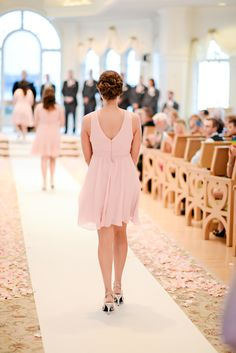 Pretty in pink bridesmaids at Disney's Wedding Pavilion