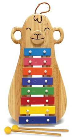 Green Tones Monkey Glockenspiel 8 Note