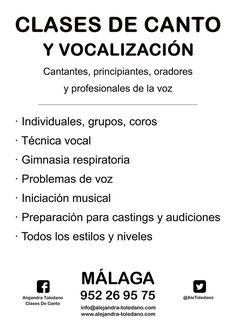 En Clase Rehabilitación de problemas de voz Disfonías funcionales :)) ♪♫♪ www.alejandra-toledano.com