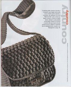 Crochet Bag. Cluster stitch.