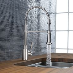 Consider mounting a pot filler away from the sink for some added efficiency, say maybe next to the stove?