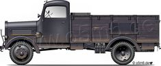 """Engines of the Wehrmacht - """"Mercedes L3000A"""", 3-ton, 4x4, Cargo Truck"""