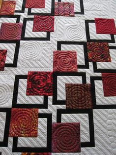 really interesting way to break up the space on a modern quilt