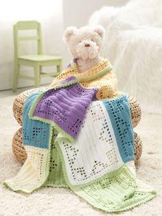 Starlight Baby Blanket | Yarn | Free Knitting Patterns | Crochet Patterns | Yarnspirations