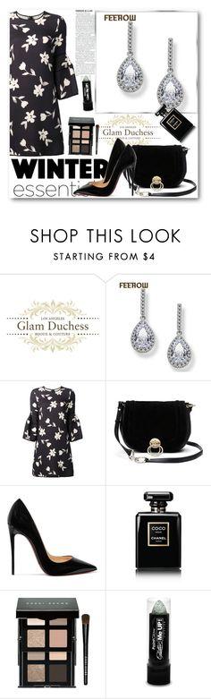 """Glam Duchess"" by glamduchess ❤ liked on Polyvore featuring Carolina Herrera, Diane Von Furstenberg, Christian Louboutin, Chanel and Bobbi Brown Cosmetics"