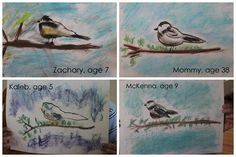 Chickadee Pastels by Jolanthe and her children at Homeschool Creations!