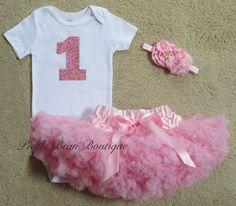1st Birthday Girl Outfit Girls First Birthday Outfits Baby