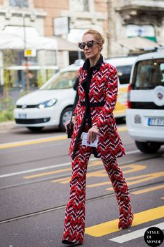 abstract print suit
