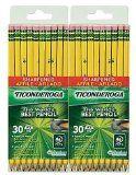 Dixon Ticonderoga Pre-Sharpened Pencil #2 Yellow Barrel-30 ct 2 pk by Dixon