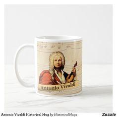 Antonio Vivaldi Historical Mug Personalized Coffee Mugs, Custom Mugs, Keep It Cleaner, Photo Mugs, Funny Jokes, Create Your Own, Kids Shop, Ceramics, Make It Yourself