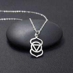 Third Eye Chakra Necklace Third Eye Chakra Charm Pendant, Chakra Jewelry, Yoga Jewelry, Yoga Gift
