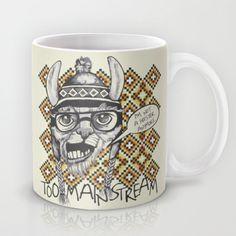 Hipster llama Mug by studio VII - http://society6.com/vivinicolin/Hipter-llama_Mug#27=199
