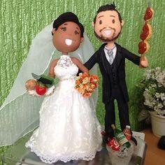 #work #biscuit #biscuitdaLéia #bsb #brasília #feitoamao #LéiaLemos #artesanato #brasil #art #sculpture #clay #miniature #weddingcake #fofinhos