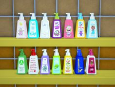Soap Fest! Recolor of OBP lovely bathroom clutter. Download Download dropbox Simlish fonts by ajaysims & gazifu/Mesh by One Billion Pixels/Made with Sims 4 Studio