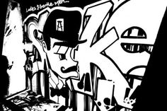 Black and White Graffiti Art