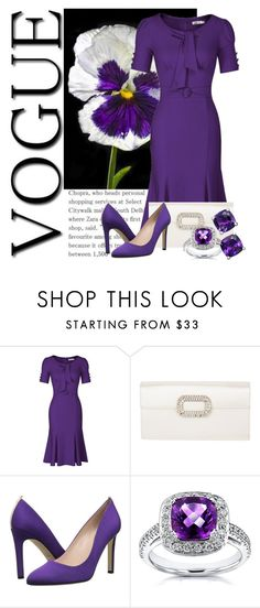 """""""Flowers: Pansy Contest"""" by tlb0318 ❤ liked on Polyvore featuring Roger Vivier, SJP, Annello and vintage"""
