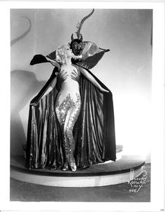 Murray Korman, photo of unknown burlesque performer