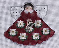 Painted Pony Designs Magnolia Angel 996FI Hand Painted Needlepoint Canvas