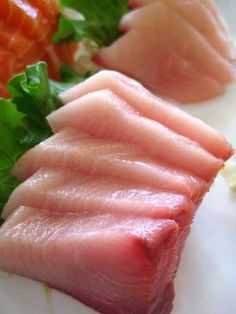 Hamachi = young yellowtail... I love sashimi ... JamesAZiegler.com
