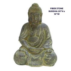 FIBER STONE BUDDHA