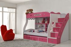 bunk with stairs/drawers