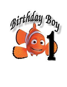 Nemo Birthday Boy custom Iron on Transfer personalized custom iron on Transfer T-shirt iron on by SAVVYCOUNTRYDESIGNS on Etsy