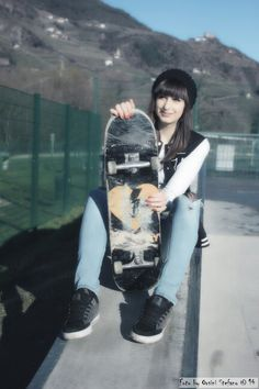 Skate love♥ anche se non so andarci xD #skate #style #moda